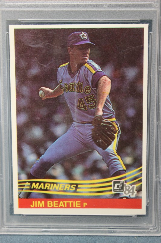 Jim Beattie 1984 Donruss Seattle Mariners 191 PSA MINT 9