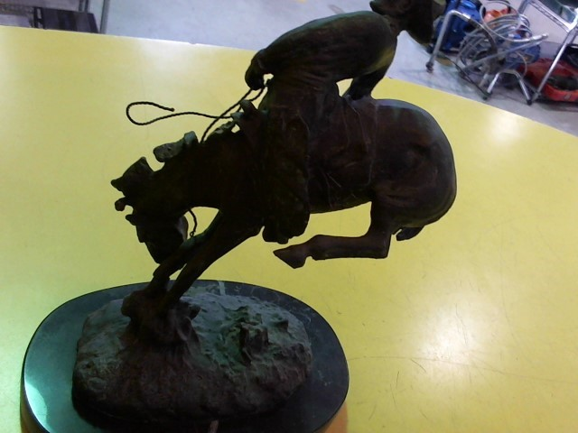 FREDERIC REMINGTON Sculpture/Carving OUTLAW BRONZE STATUE
