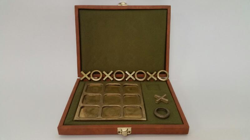 Vintage Game BRASS TICTACTOE SET BRASS TIC
