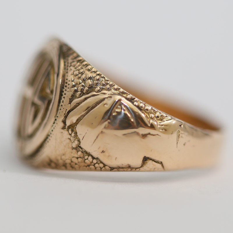1931 Vintage 10K Y/G Fredericksburg VA High School Ring Size 8.8