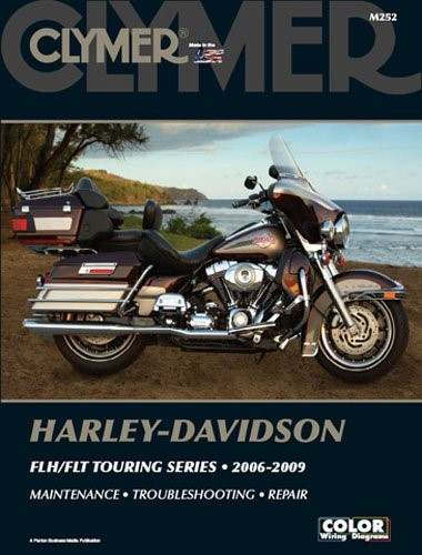NEW BIKERS CHOICE Motorcycle Part 700252 CLYMER MANUAL 2006-2009 FLH/FLT TOURING