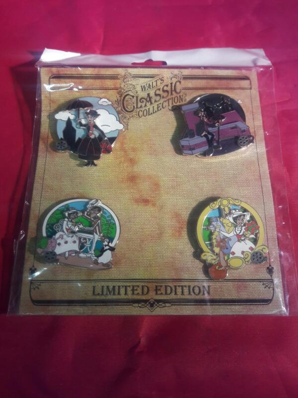 WALTS CLASSIC COLLECTION MARRY POPPINS 4 PIN SET