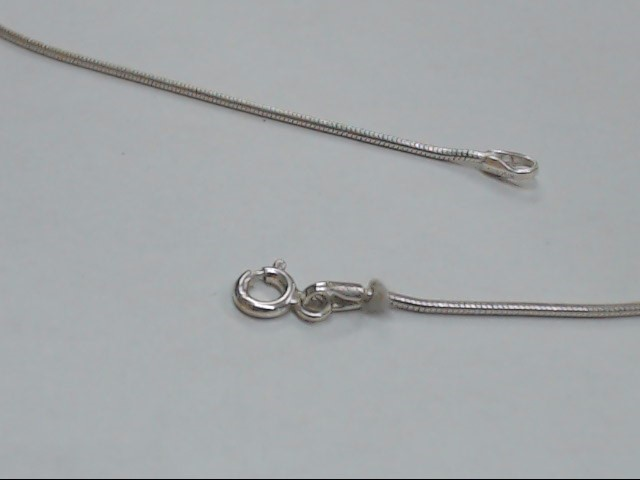 """17"""" Silver Snake Chain 925 Silver 3.6g"""