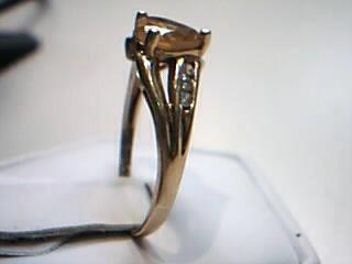 Yellow Stone Gold-Diamond & Stone Scrap 6 Diamonds .12 Carat T.W.