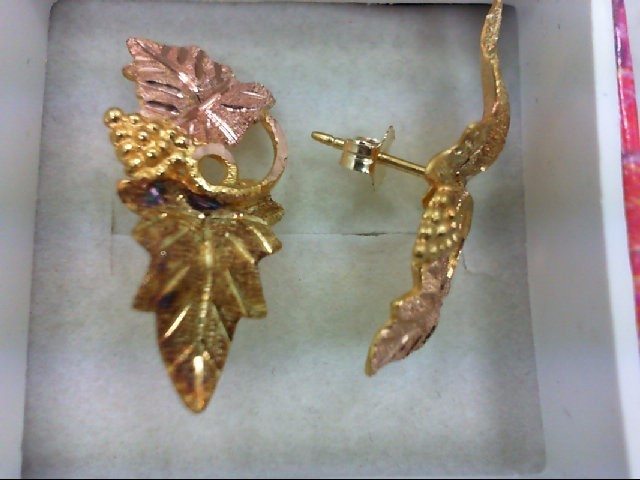 Gold Earrings 10K Tri-color Gold 2.5g