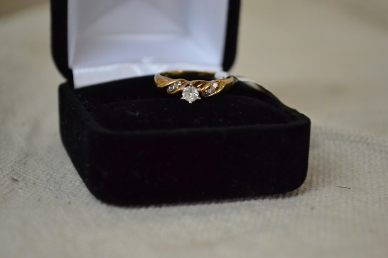 Lady's Diamond Engagement Ring 4 Diamonds .19 Carat T.W. 14K Yellow Gold 2g