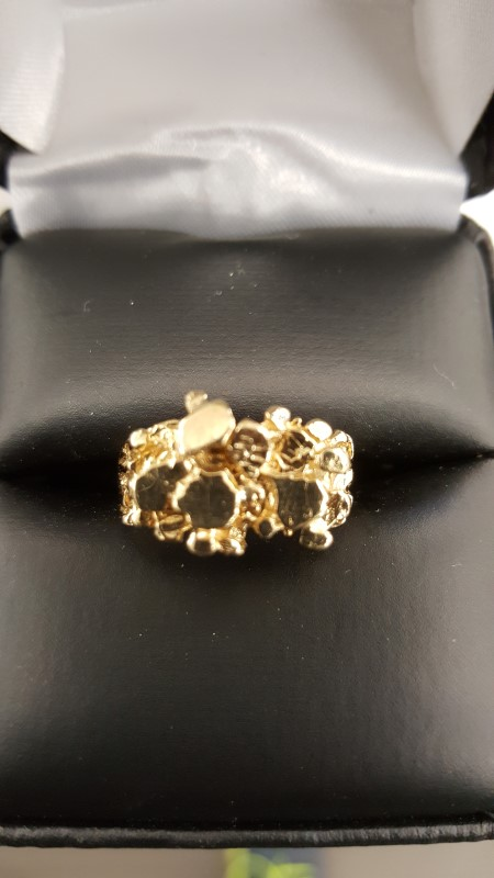 Gent's Gold Ring 10K Yellow Gold 4g Size:7.5
