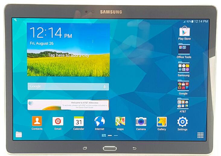SAMSUNG GALAXY TAB S 16GB Wi-Fi+4G AT&T Charcoal Grey SM-T807A