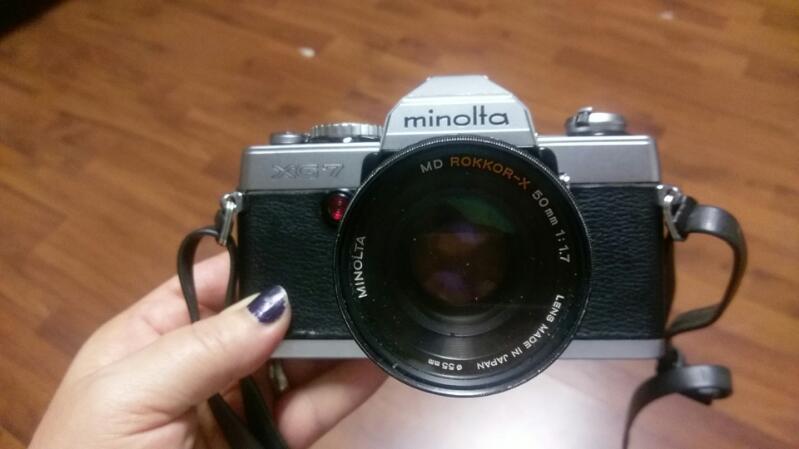 MINOLTA Film Camera XG-7 +Vivitar zoom & accesories