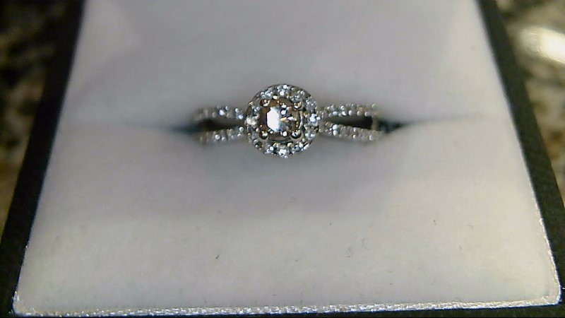 Lady's Diamond Wedding Band 46 Diamonds .355 Carat T.W. 14K White Gold 3.4g