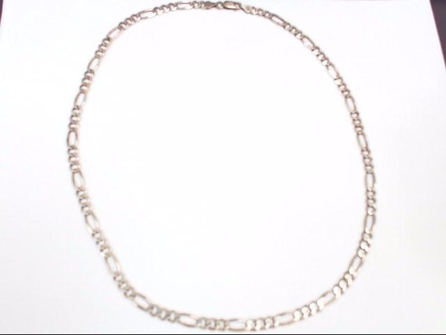 "Unisex 24"" Silver Figaro Chain 925 Silver 24.3g"