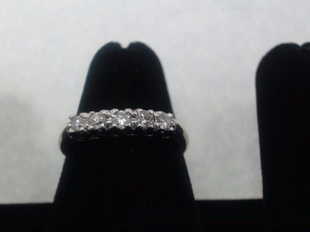 Lady's Diamond Fashion Ring 5 Diamonds .25 Carat T.W. 14K Yellow Gold 2.1g