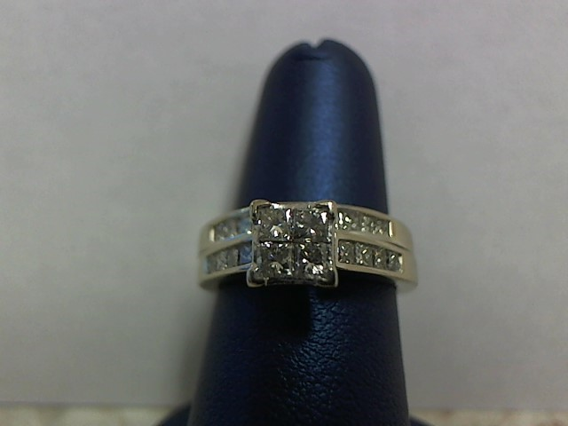 Lady's Diamond Wedding Set 22 Diamonds 1.12 Carat T.W. 14K White Gold 5.4g