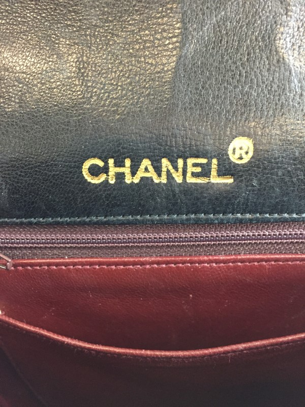 CHANEL BLACK QUILTED LAMBSKIN VINTAGE FLAP SATCHEL