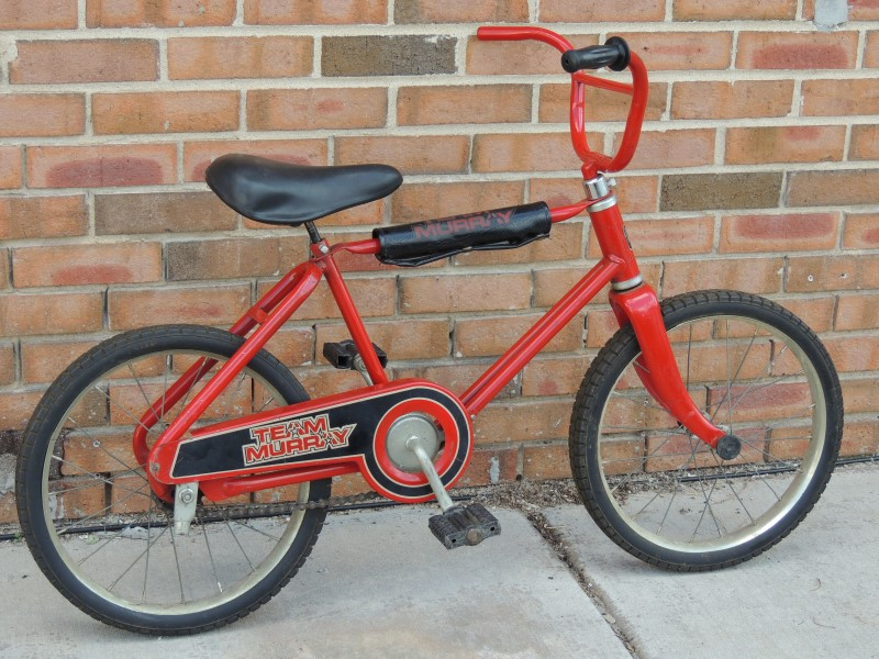 Vintage Red Team Murray kids Bike solid tires