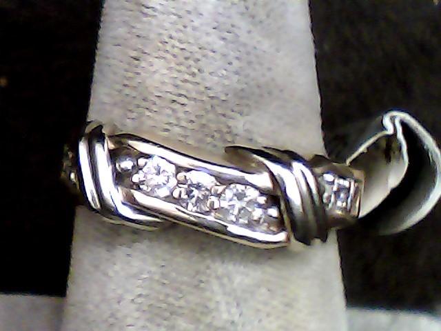 Lady's Diamond Wedding Band 7 Diamonds .35 Carat T.W. 14K Yellow Gold 3dwt