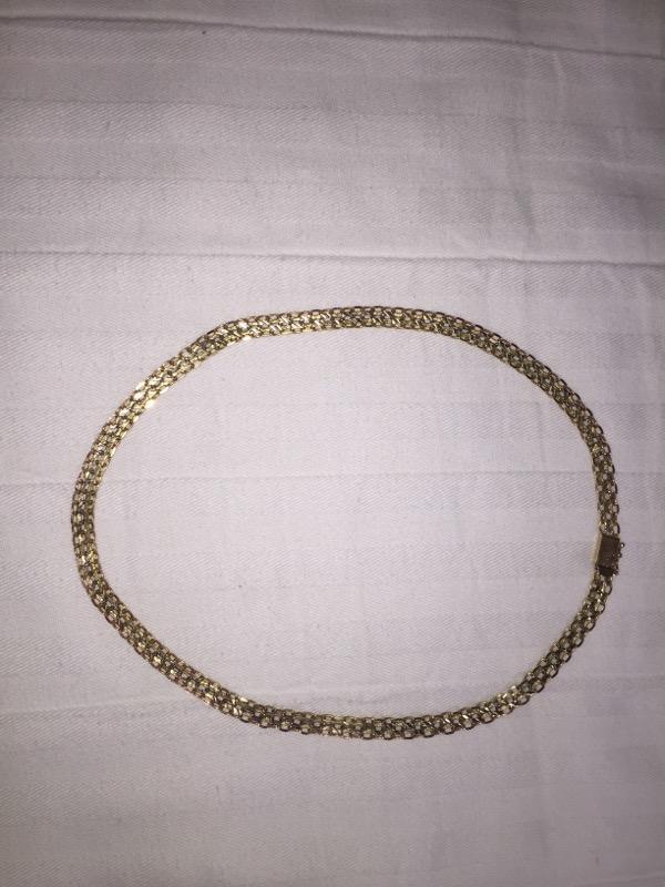 "15"" Gold Chain 14K 2 Tone Gold 14.4g"