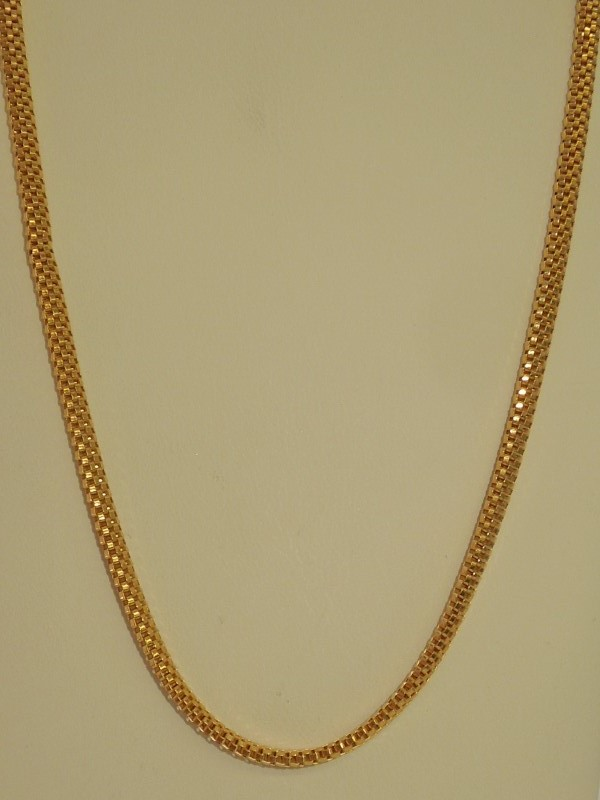 "24"" Gold Box Chain 18K Yellow Gold 18.5g"