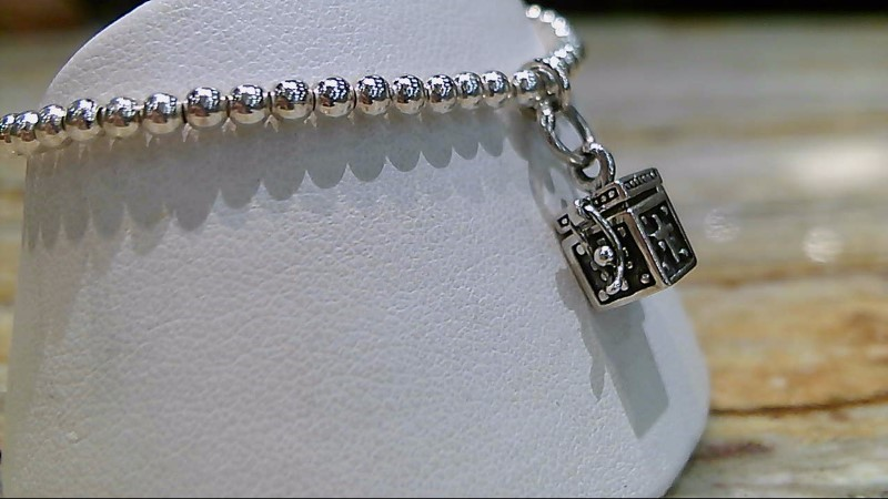Silver Silpada Prayer Box with Cross Child Fashion Bracelet 925 Silver 5g