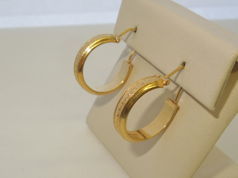 Gold Earrings 18K Yellow Gold 4.5g