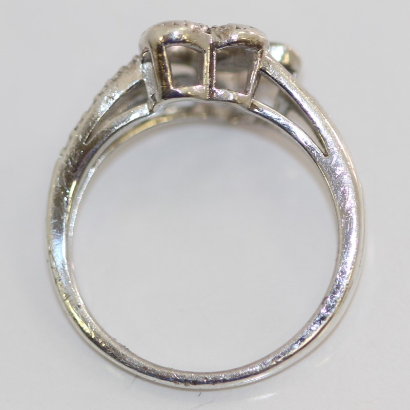 Sterling Silver Double Heart Ring Size 6.75