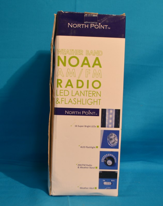 North Point 190511 Weather Band NOAA AM/FM Radio LED Lantern & Flashlight