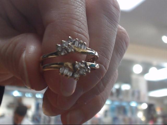 Lady's Gold-Diamond Ring Guard 16 Diamonds .36 Carat T.W. 14K Yellow Gold 4g