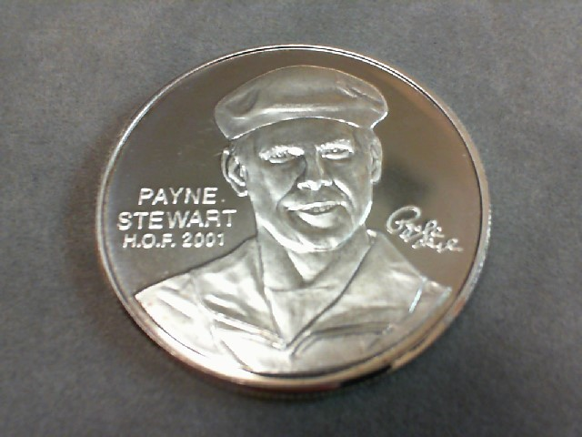 1oz. .999 Silver PGA TOUR PARTNERS CLUB Payne Stewart Hall of Fame 2001