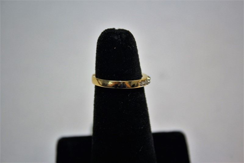 Lady's Gold Wedding Band 14K Yellow Gold 3.1g Size:6