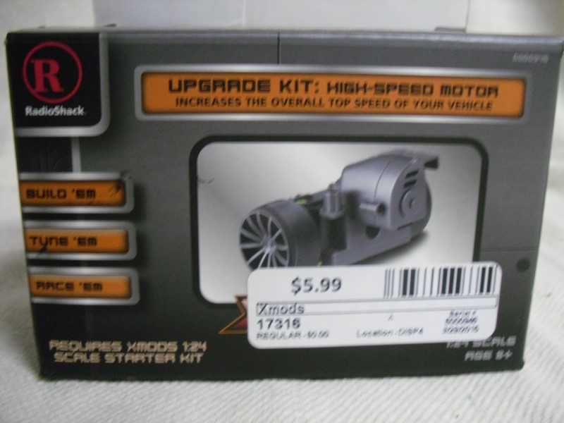 Radio Shack Xmods High-speed Motor Upgrade Kit.