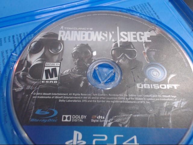SONY Sony PlayStation 4 Game PS4 TOM CLANCY'S RAINBOW 6 SIEGE