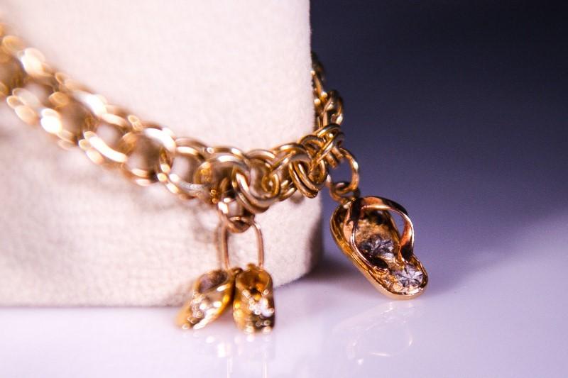 Gold Bracelet 14K Yellow Gold 14g