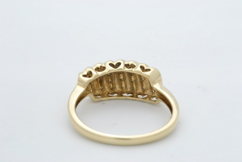 ESTATE DIAMOND CLUSTER RING BAND SOLID 10K YELLOW GOLD SIZE 7