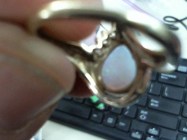 Opal Lady's Stone Ring 14K Yellow Gold 4.3g