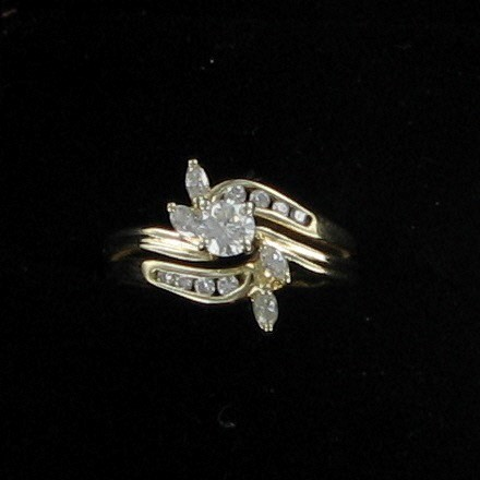 Lady's Diamond Cluster Ring 13 Diamonds .35 Carat T.W. 14K Yellow Gold 2.2dwt