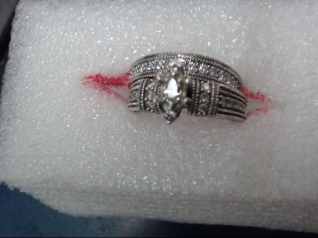 Lady's Diamond Wedding Set .01 CT. 10K White Gold 5.11dwt