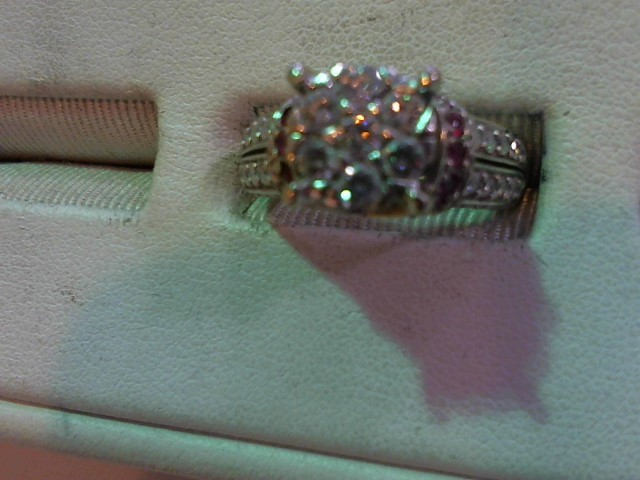 Pink Stone Lady's Stone & Diamond Ring 47 Diamonds .89 Carat T.W.
