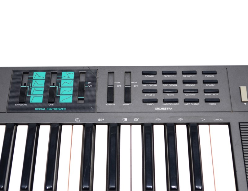 YAMAHA PSR-21 ELECTRONIC KEYBOARD BLACK 49 KEYS WITH POWER ADAPTER>