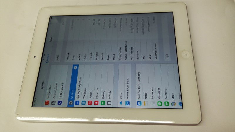 APPLE IPAD TABLET A1460 64GB
