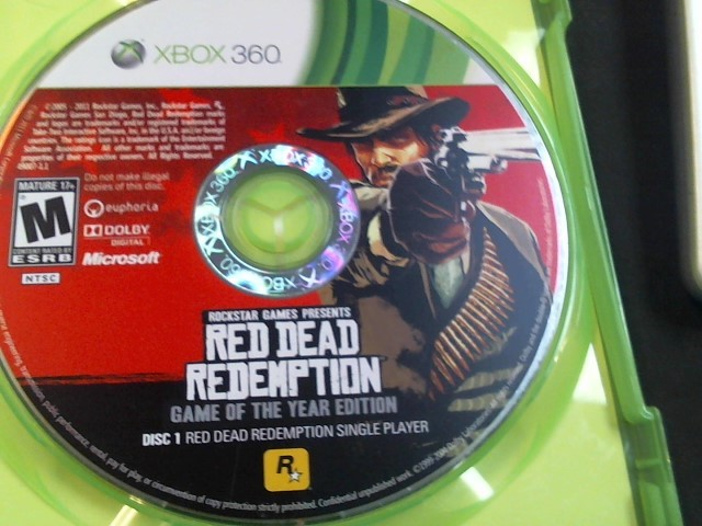 MICROSOFT Microsoft XBOX 360 Game RED DEAD REDEMPTION GAME OF THE YEAR EDITION