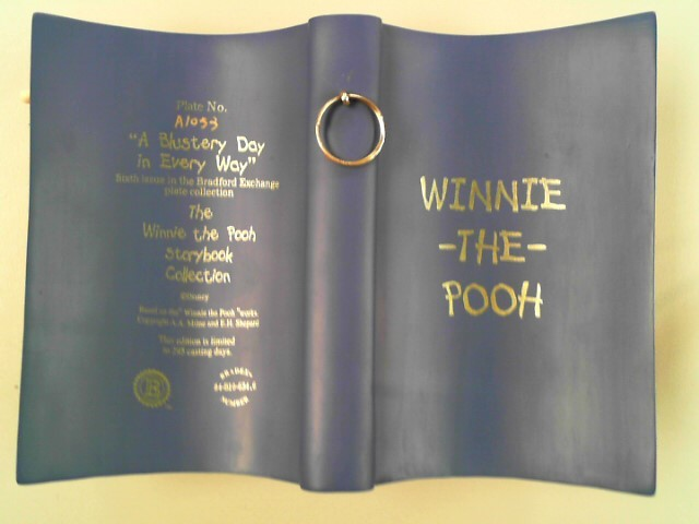 "BRADFORD EXCHANGE WINNIE THE POO ""A BLUSTERY DAY IN EVERY WAY"""