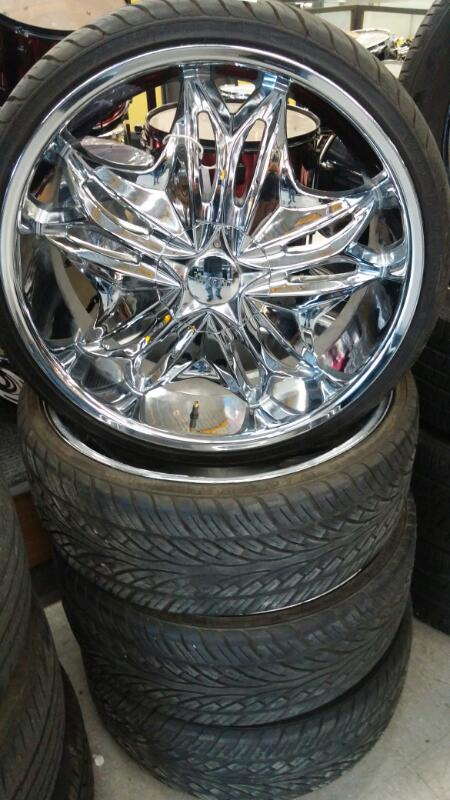 "VISCERA Wheel 22"" TIRES AND RIMS"