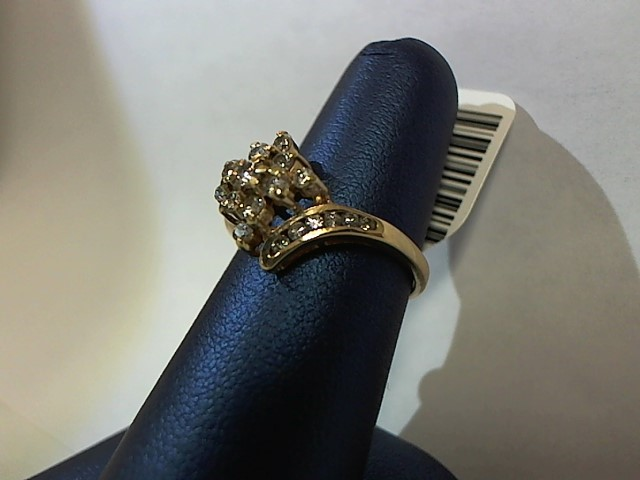 Lady's Diamond Fashion Ring 23 Diamonds .38 Carat T.W. 14K Yellow Gold 3g