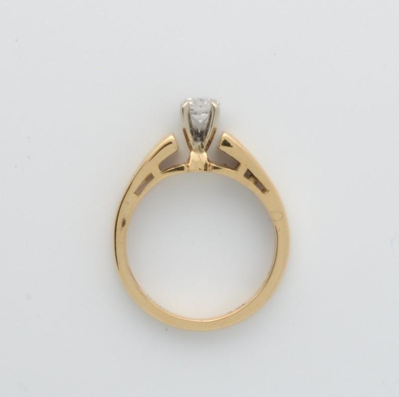 ESTATE DIAMOND RING SOLID 14K GOLD ENGAGEMENT WEDDING FINE SIZE 4