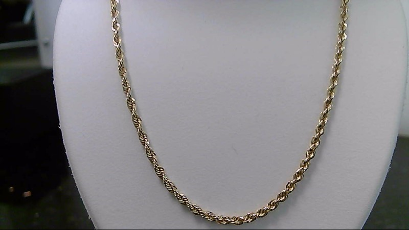 "20"" Gold Rope Chain 14K Yellow Gold 7.6g"