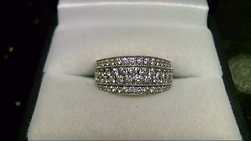 New Lady's Diamond Cluster Ring 50 Diamonds 1.44 CTTW 14K White Gold 4.5G