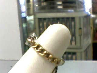 Lady's Diamond Fashion Ring 10 Diamonds .10 Carat T.W. 14K Yellow Gold 1.9dwt