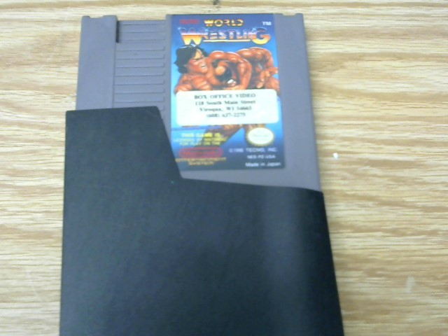 NINTENDO Nintendo NES Game WORLD WRESTLING