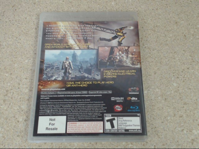 INFAMOUS - PLAYSTATION 3 GAME
