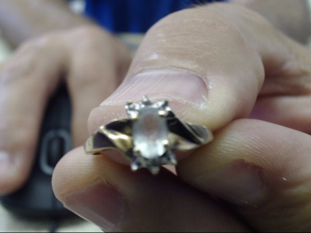 Blue Stone Lady's Stone Ring 10K Yellow Gold 1.6g Size:7